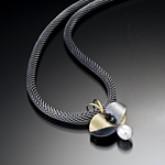 Bimetal, Pearl, & Stone Necklace by Christine MacKellar