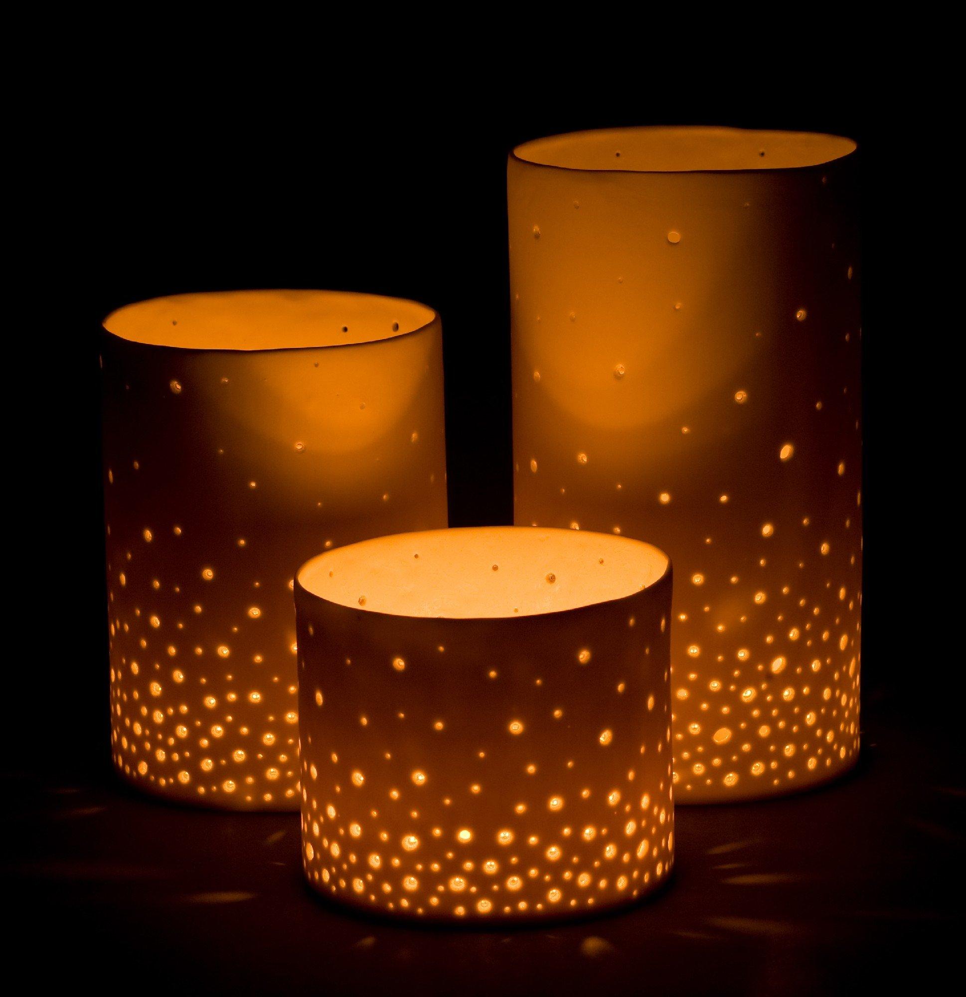 Starry Sky Luminaries By Tabbatha Henry Ceramic Candleholders Artful Home