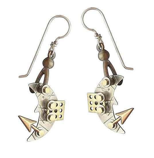Over the Moon Earrings - Metal Earrings - by Thomas Mann