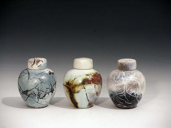 Keepsakes - Ceramic Urn - by Judith E. Motzkin