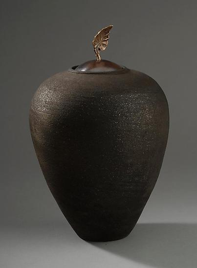 Leaf Vessel - Ceramic Vessel - by Carol Green