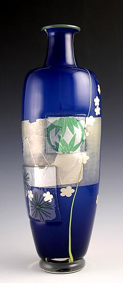 Three Friends of Winter Vase - Art Glass Vase - by Richard S. Jones