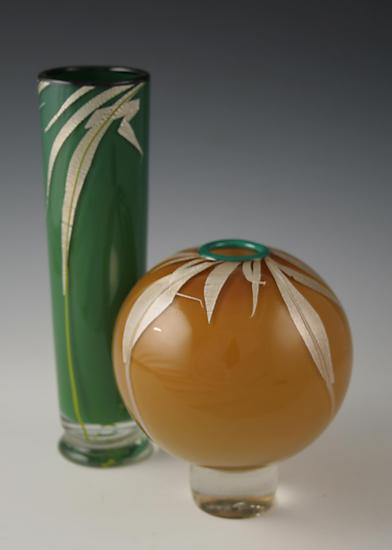 Grass Vases - Art Glass Vase - by Richard S. Jones