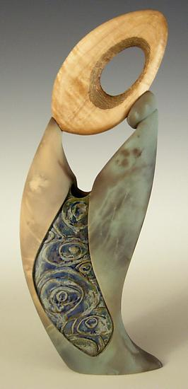 Not Knot II - Ceramic Sculpture - by Jan Jacque