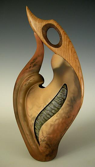 Not Knot III - Ceramic Sculpture - by Jan Jacque