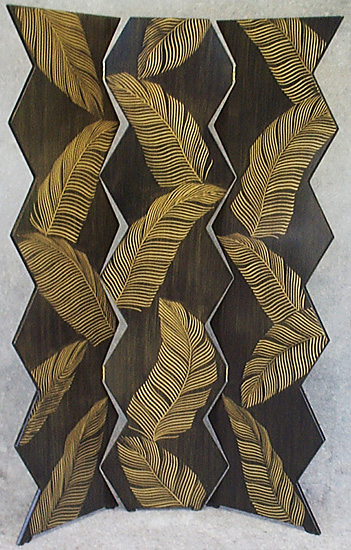 Palm Folding Screen - Wood Folding Screen - by Daniel Grant and Ingela Noren