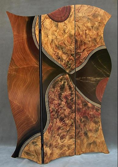 Vienna Folding Screen - Wood Screen - by Daniel Grant and Ingela Noren