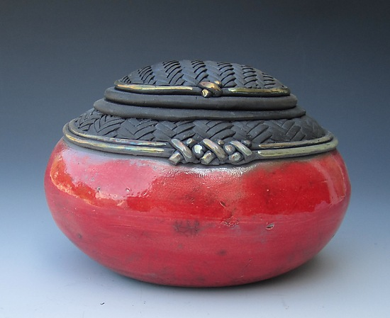 cajita Negra Oval - Ceramic Box - by Candone Wharton