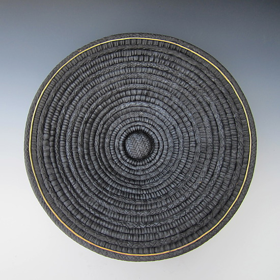 Plato Negro - Ceramic Wall Art - by Candone Wharton