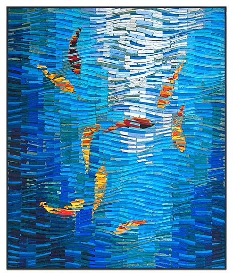 Koi no. 22 - Fiber Wall Art - by Tim Harding