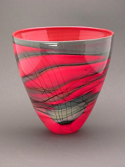 Kimono Series Bowl - Art Glass Bowl - by Steven Main