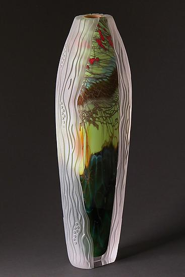 Carved Collection: Forest Series 16-FS-8 - Art Glass Sculpture - by Steven Main
