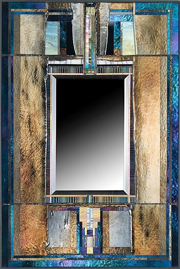 Tectonic Mirror - Art Glass Mirror - by Thomas Meyers
