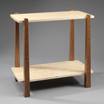 Wood Side Table by Mark Del Guidice