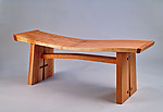 Wood Bench by Richard Laufer