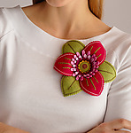 Felt Brooch by Renee Roeder-Earley