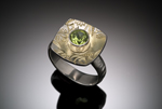 Gold, Silver, & Stone Ring by Louise Norrell