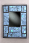 Ceramic & Wood Mirror by Eileen Young