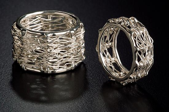 Silver Bamboo Rings - Silver Ring - by Randi Chervitz