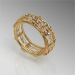 Gold & Diamond Ring by Randi Chervitz