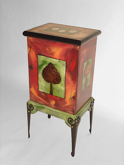 New Beginnings - Wood Cabinet - by Wendy Grossman