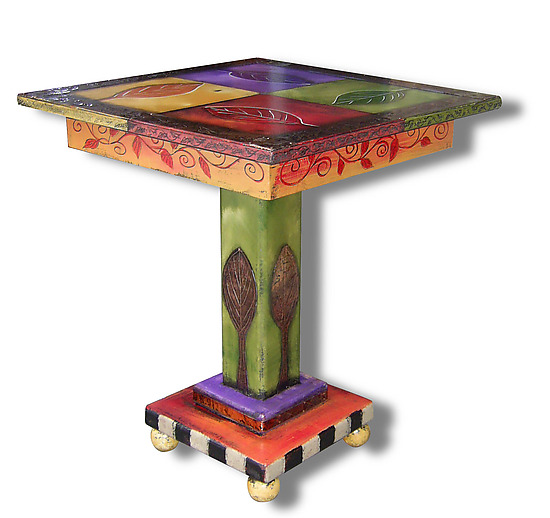 Four Leaf End Table - Wood Side Table - by Wendy Grossman
