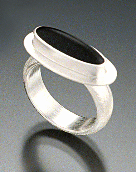 Kosmo Ring - Silver & Glass Ring - by Amy Faust
