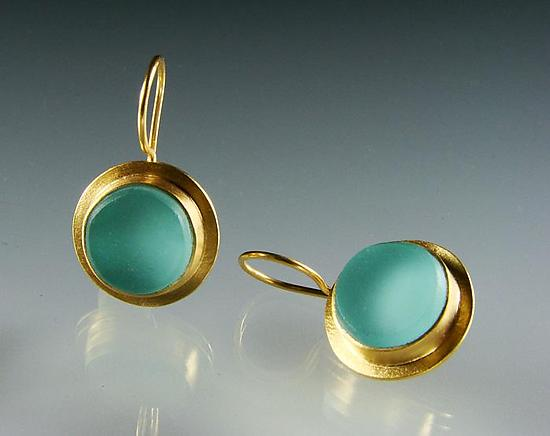 Classica Earrings - Gold & Glass Earrings - by Amy Faust