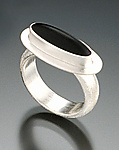 Silver & Glass Ring by Amy Faust