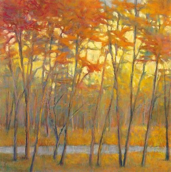 Yellows at the Creek right - Giclee Print - by Ken Elliott