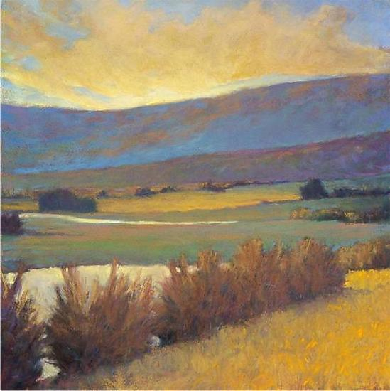 View Across the River - Giclee Print - by Ken Elliott