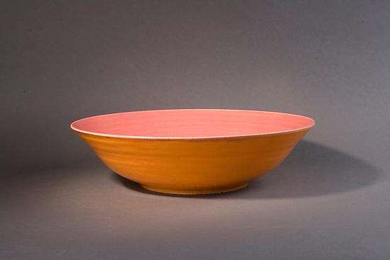 Orange and Pink Bowl - Ceramic Bowl - by Amber Archer