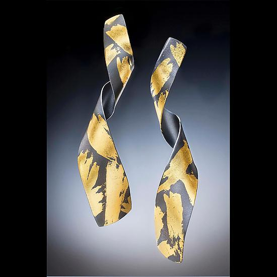Pirouette - Gold & Silver Earrings - by Judith Neugebauer