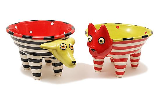 Walking Dog or Cat Bowl - Ceramic Bowls - by Alison Palmer
