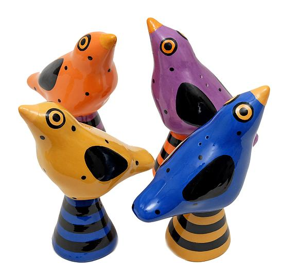 Bird Salt and Peppers - Ceramic Salt and Pepper Shakers - by Alison Palmer