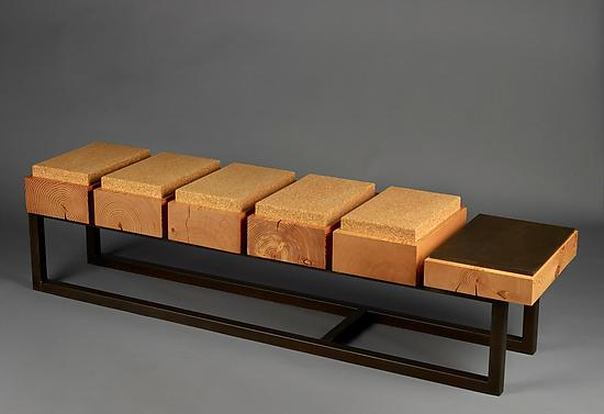 Cork Pillow Bench - Wood Bench - by Brad Reed Nelson