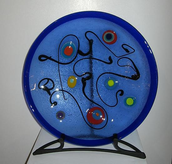 Collage Dance Bowl - Art Glass Bowl - by Barbara Galazzo