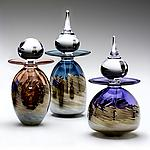 Art Glass Perfume Bottles by Michael Trimpol