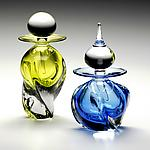 Art Glass Perfume Bottle by Michael Trimpol