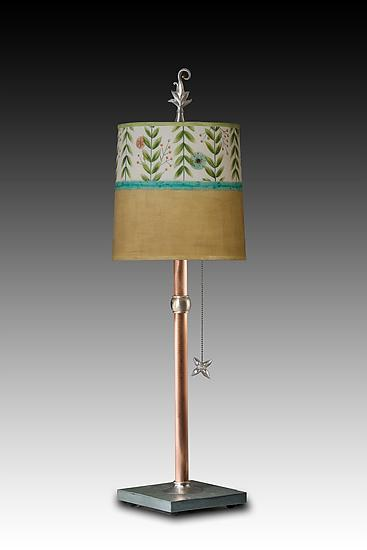 Stella Table Lamp - Mixed-Media Table Lamp - by Janna Ugone and Justin Thomas