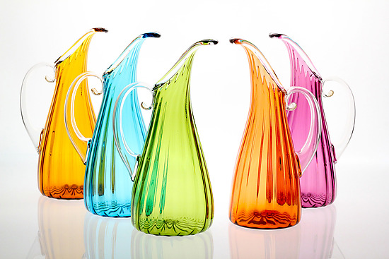 Optic Pitcher - Art Glass Pitcher - by Cal Breed