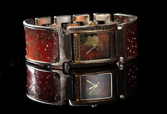 Copper Perforated Florence - Metal Women's Watch - by Eduardo Milieris