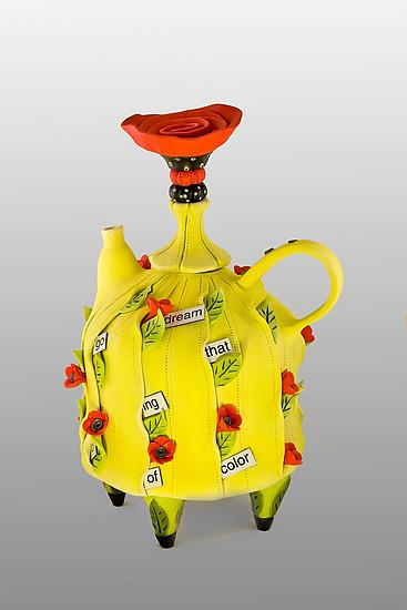 I Go On Dreaming - Ceramic Teapot - by Laura Peery