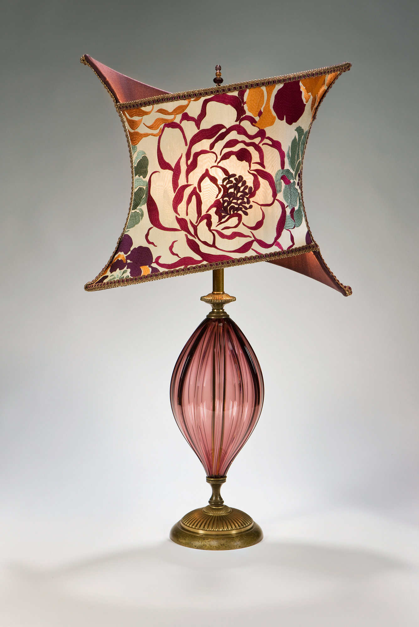 Tori - Mixed-Media Table Lamp - by Caryn Kinzig and Susan Kinzig