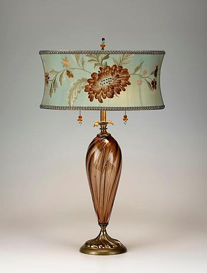 Monica - Mixed Media Table Lamp - by Caryn Kinzig and Susan Kinzig