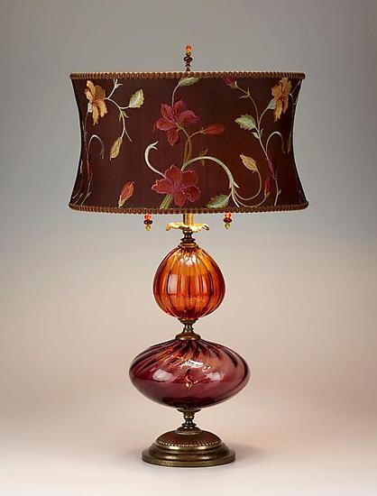 Violeta - Mixed Media Table Lamp - by Caryn Kinzig and Susan Kinzig