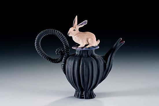 Rabbit Tea - Ceramic Teapot - by Nancy Y. Adams
