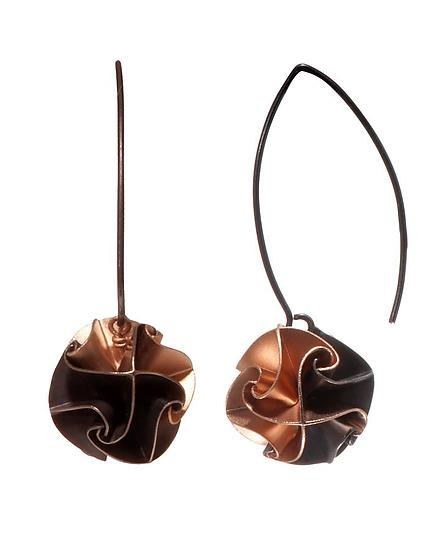 Rose Flora Drop Earrings - Silver Earrings - by Chihiro Makio