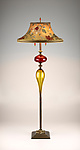 Mixed-Media Floor lamp by Caryn Kinzig