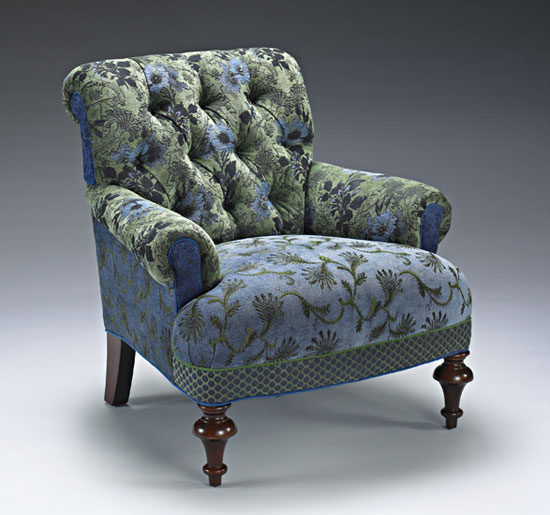 Middlebury Chair: Larkspur - Upholstered Chair - by Mary Lynn O'Shea